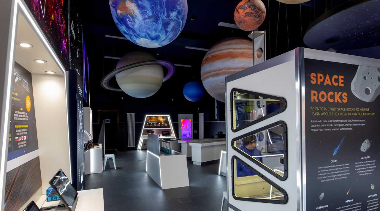 Inside Kirkcudbright Dark Space Planetarium