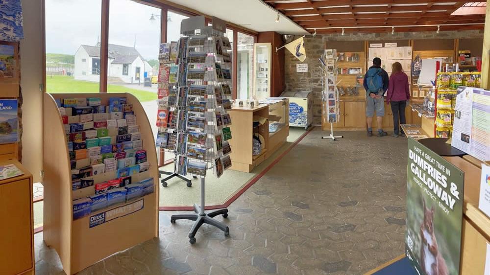 Interior of Kirkcudbright Information Centre